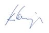 Unterschrift des Geschäftsführers von Böhm-Elektromedizin, eines Medizintechnik-Unternehmens aus Berlin. Vertrieb, Service, Reparatur, Wartung (MTK, STK,...).