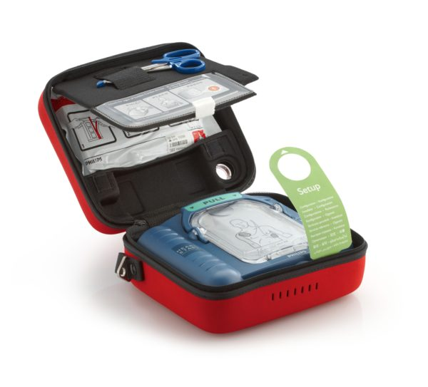 Philips HeartStart HS1 mit Defi-Pads und Zubehör Koffer