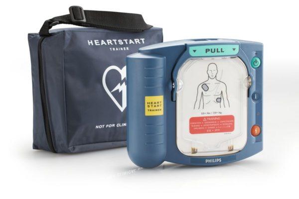 Erste-Hilfe-Defibrillator Philips HeartStart HS1 mit Tasche