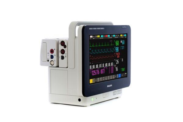 Der Philips IntelliVue MX450 verfügt über die Möglichkeit X2- oder X3-Module zu verwenden.