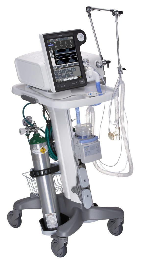Philips Respironics V680 - Beatmungsgerät mit Rollständer anderer Winkel